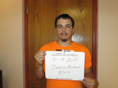 Justin Micheal Blois a registered Sex or Violent Offender of Oklahoma