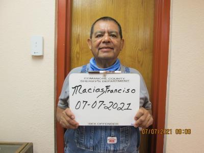Francisco Macias a registered Sex or Violent Offender of Oklahoma