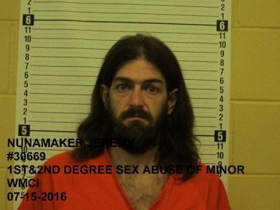 Jeremy Michael Nunamaker a registered Sex Offender of Wyoming