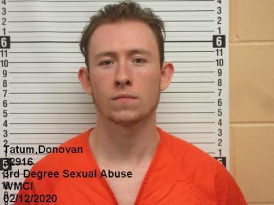Donovan Michael Tatum a registered Sex Offender of Wyoming