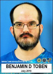 Benjamin Douglas Toben a registered Sex Offender of Iowa