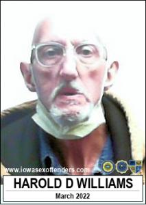 Harold Duane Williams a registered Sex Offender of Iowa