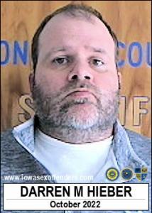 Darren Michael Hieber a registered Sex Offender of Iowa