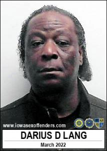 Darius Darnell Lang a registered Sex Offender of Iowa