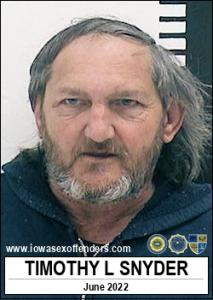 Timothy Lee Snyder a registered Sex Offender of Iowa