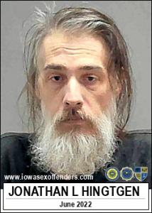 Jonathan Leroy Hingtgen a registered Sex Offender of Iowa