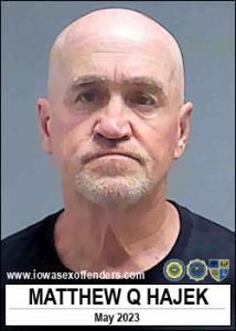 Matthew Quinton Hajek a registered Sex Offender of Iowa