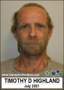 Timothy Duane Highland a registered Sex Offender of Iowa