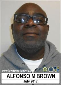 Alfonso Morman Brown a registered Sex Offender of Iowa