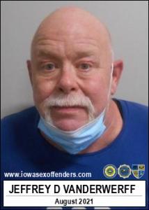 Jeffrey Duane Vanderwerff a registered Sex Offender of Iowa