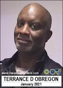 Terrance Douglas Obregon a registered Sex Offender of Iowa