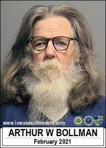 Arthur Wayne Bollman a registered Sex Offender of Iowa