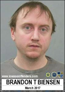 Brandon Thomas Biensen a registered Sex Offender of Iowa