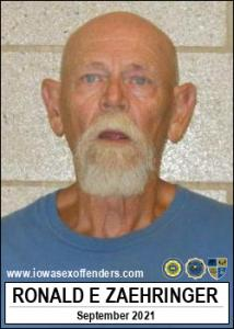 Ronald Eugene Zaehringer a registered Sex Offender of Iowa