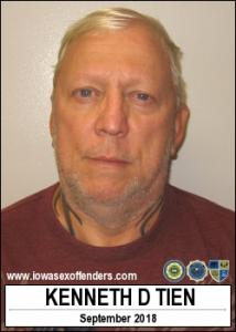 Kenneth Dale Tien a registered Sex Offender of Iowa
