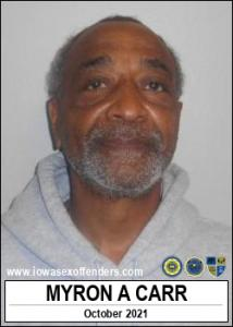 Myron Antonio Carr a registered Sex Offender of Iowa
