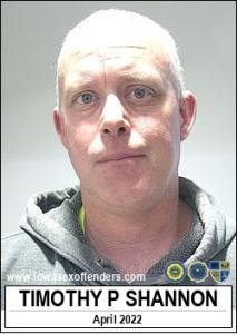 Timothy Paul Shannon a registered Sex Offender of Iowa