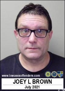 Joey Lee Brown a registered Sex Offender of Iowa