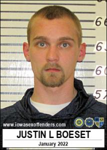 Justin Lee Boeset a registered Sex Offender of Iowa