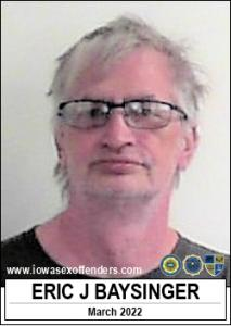 Eric John Baysinger a registered Sex Offender of Iowa