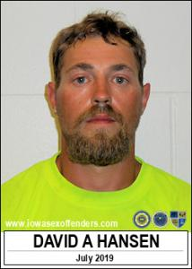 David Alfred Hansen a registered Sex Offender of Iowa