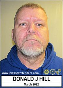 Donald James Hill a registered Sex Offender of Iowa