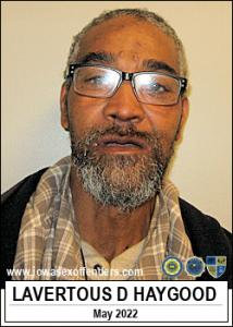 Lavertous Deangelo Haygood a registered Sex Offender of Iowa