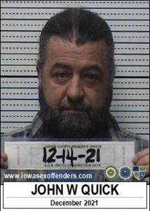 John Wayne Quick a registered Sex Offender of Iowa