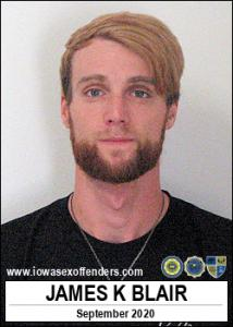 James Kyle Blair a registered Sex Offender of Iowa