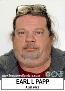 Earl Lee Papp a registered Sex Offender of Iowa