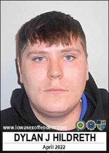 Dylan James Hildreth a registered Sex Offender of Iowa