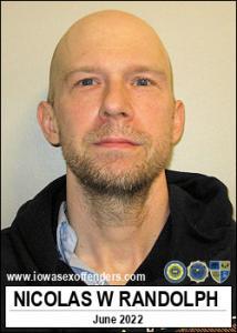 Nicolas Wayne Randolph a registered Sex Offender of Iowa