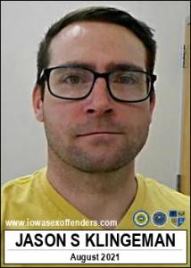 Jason Steven Klingeman a registered Sex Offender of Iowa