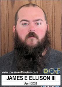 James Edward Dean Ellison III a registered Sex Offender of Iowa