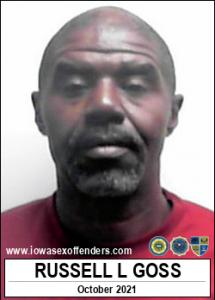 Russell Levell Goss a registered Sex Offender of Iowa