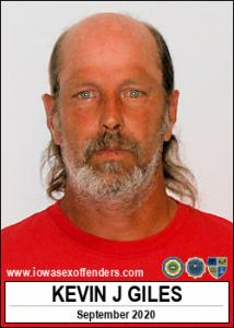 Kevin Jay Giles a registered Sex Offender of Iowa