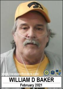 William Daniel Baker a registered Sex Offender of Iowa