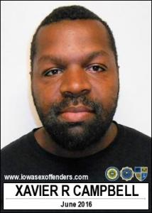 Xavier Robert Campbell a registered Sex Offender of Iowa