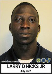Larry Donnel Hicks Jr a registered Sex Offender of Iowa