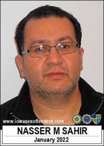 Nasser Mohamed Sahir a registered Sex Offender of Iowa