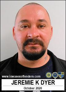 Jeremie Keith Dyer a registered Sex Offender of Iowa
