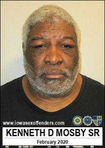 Kenneth Dwayne Mosby Sr a registered Sex Offender of Iowa