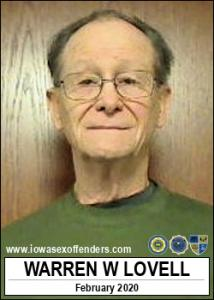 Warren William Lovell a registered Sex Offender of Iowa