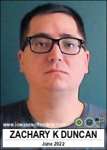 Zachary Kenneth Duncan a registered Sex Offender of Iowa