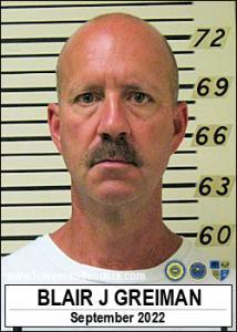 Blair Justin Greiman a registered Sex Offender of Iowa