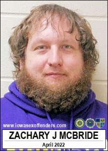 Zachary John Mcbride a registered Sex Offender of Iowa
