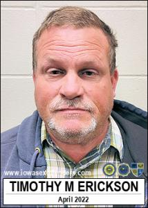 Timothy Mark Erickson a registered Sex Offender of Iowa