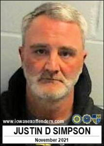 Justin David Simpson a registered Sex Offender of Iowa