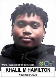 Khalil Maylik Hamilton a registered Sex Offender of Iowa