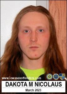 Dakota Michael Roger Nicolaus a registered Sex Offender of Iowa